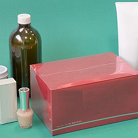 容器に合わせてきれいにシュリンク箱やキャップの改ざん防止に。